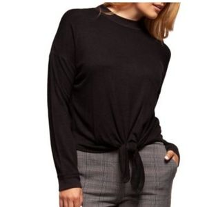 NWT Dex mock neck long sleeve with front tie